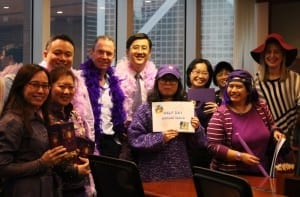 Tanner De Witt Wear Purple to Work Day