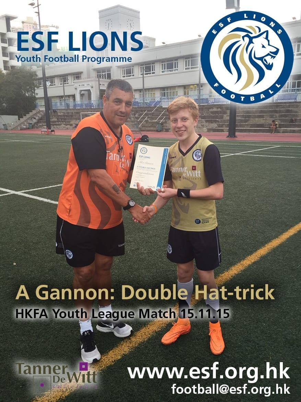 Lions Double Hat trick Gannon